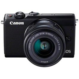 Canon EOS M100 Body With EF-M 15-45mm f/3.5-6.3 IS STM Lens - Black Thumbnail Image 2